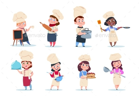 Cartoon Chefs - People Characters