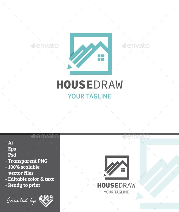 House Draw - Buildings Logo Templates