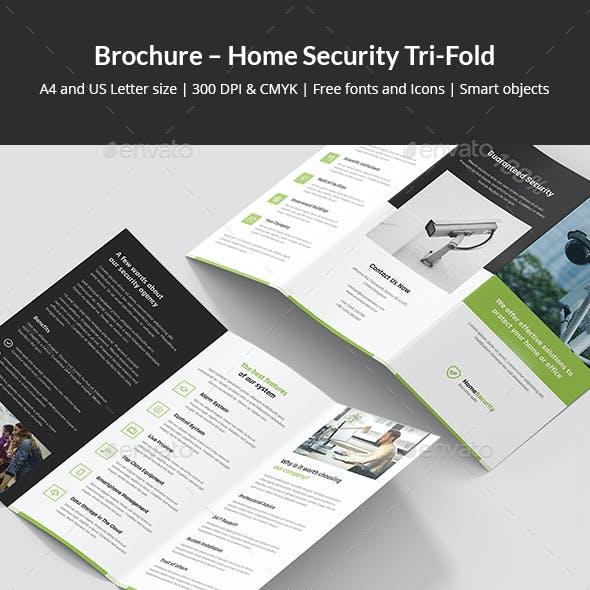 Brochure – Home Security Tri-Fold