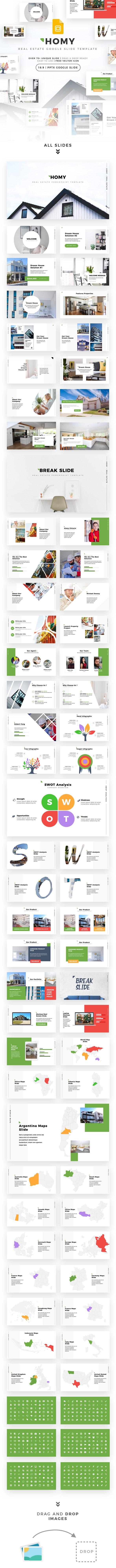 Homy - Multipurpose Real Estate Google Slide Template - Google Slides Presentation Templates
