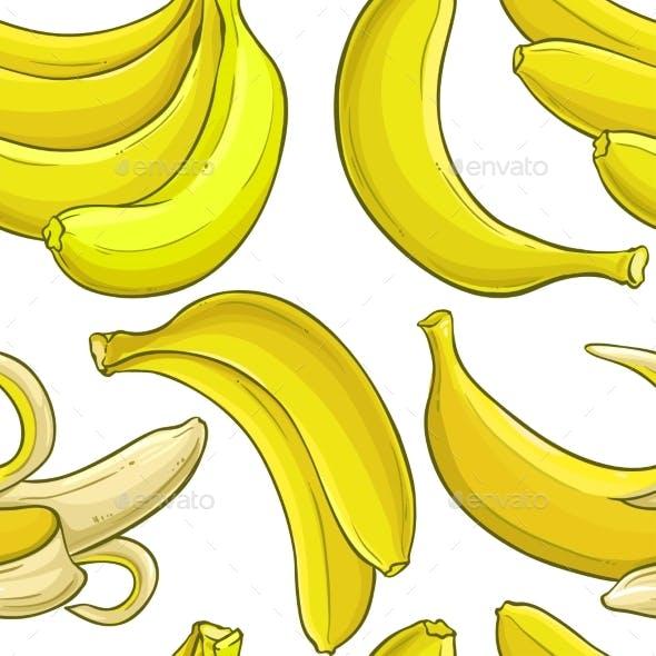 Banana  Vector Pattern