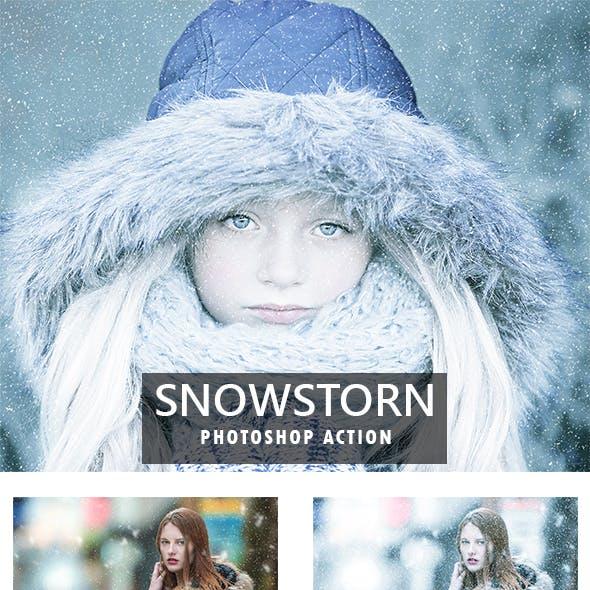 Snowstorm Photoshop Action