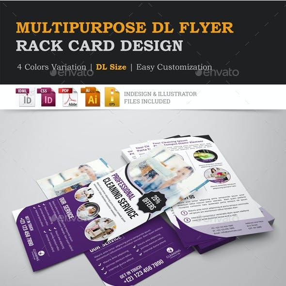 Multipurpose Rack Card DL Flyer Design Template