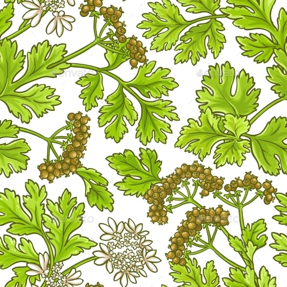 Coriander Vector Pattern - Food Objects