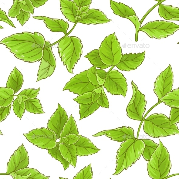 Peppermint Vector Pattern - Food Objects