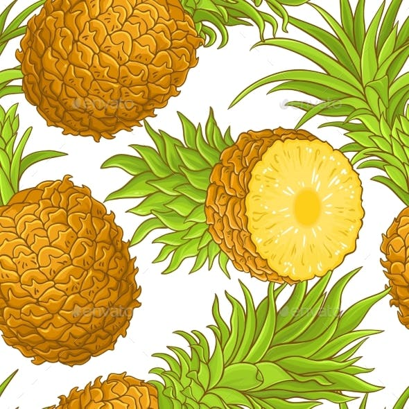 Pineapple Fruit Vector Pattern