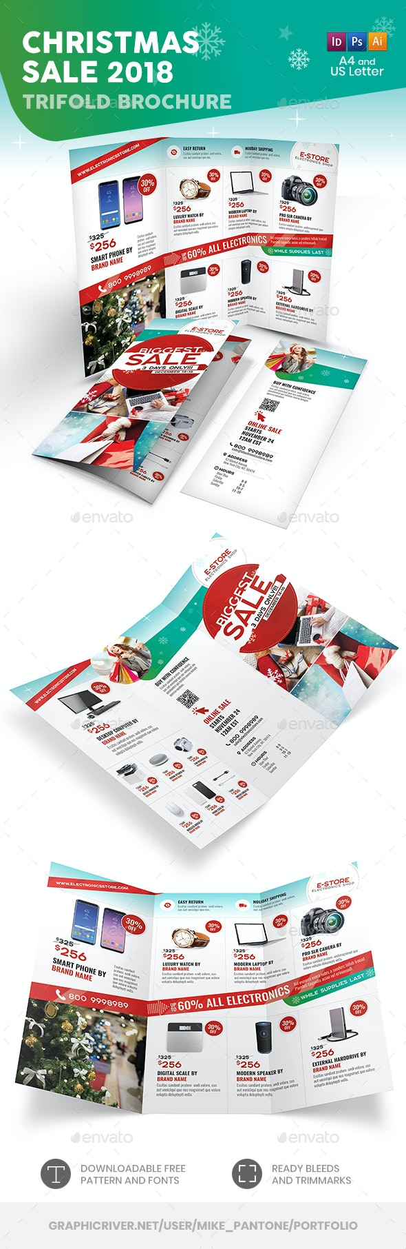 Christmas Sale 2018 Trifold Brochure - Informational Brochures