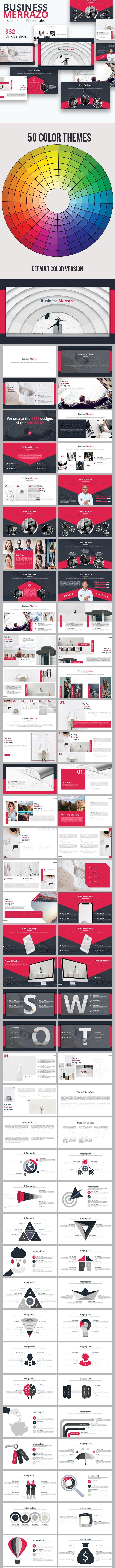 Business Merrazo Powerpoint Presentation Template - Business PowerPoint Templates
