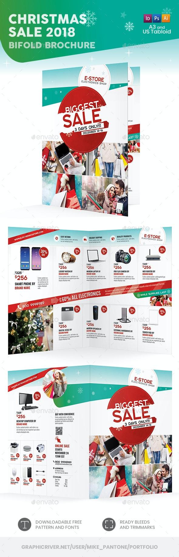 Christmas Sale 2018 Bifold / Halffold Brochure - Informational Brochures