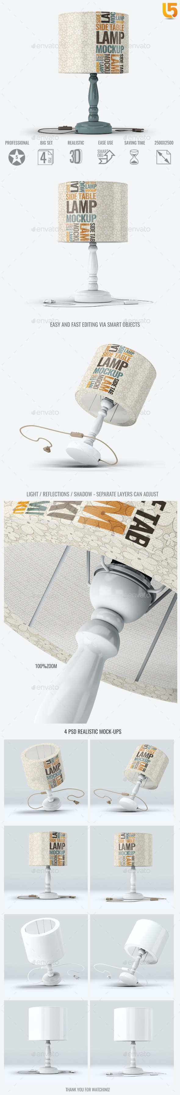 Table Lamp Mock-Up - Miscellaneous Print