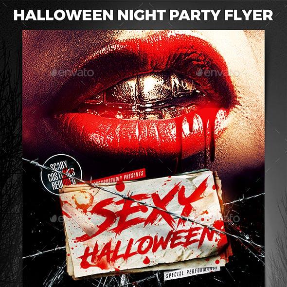 Halloween Night Party Flyer vol.6