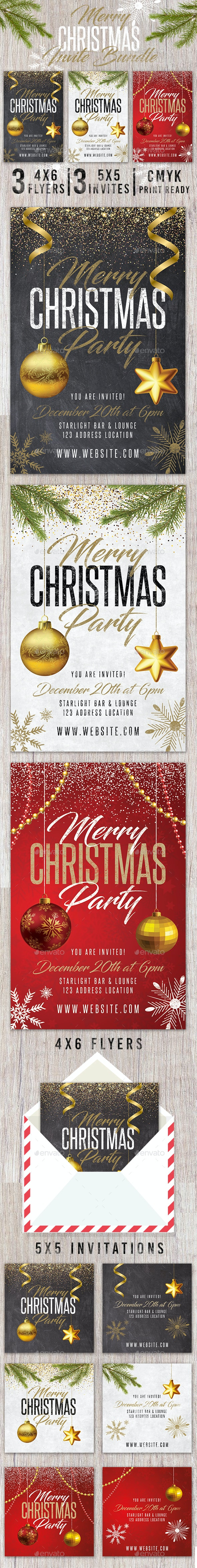 Merry Christmas Holiday Invite Pack - Holidays Events
