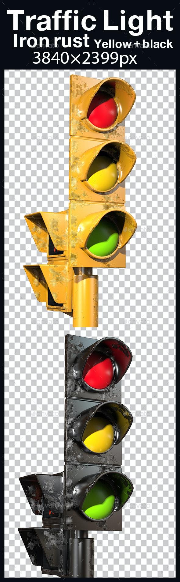 Traffic Light Iron Rust - Objects 3D Renders