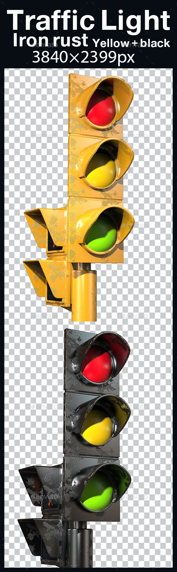Traffic Light Iron Rust by MUS_GRAPHIC_ | GraphicRiver