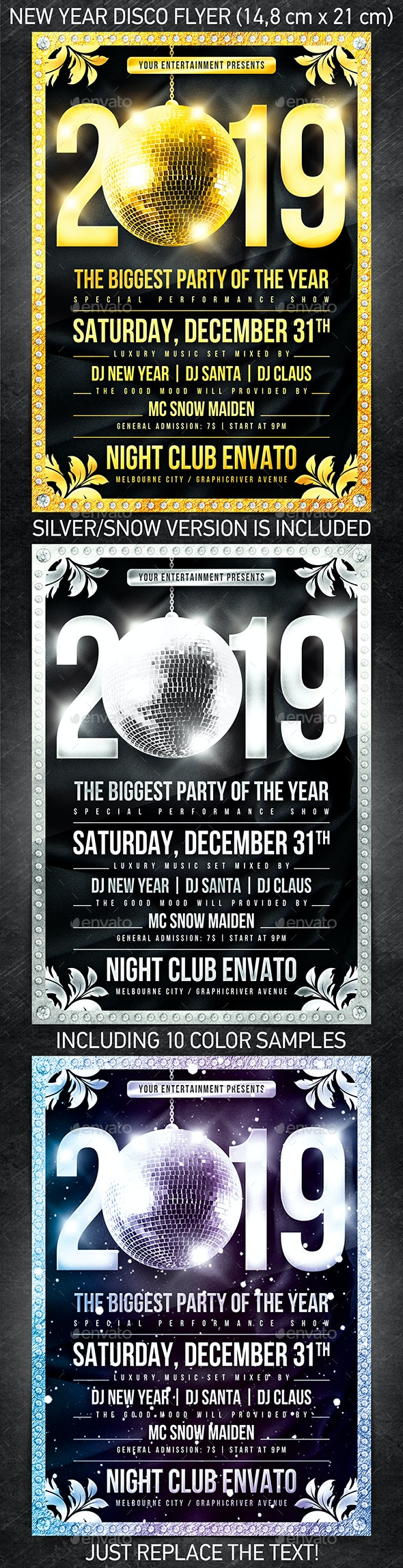 New Year Disco Flyer #1 - Print Templates