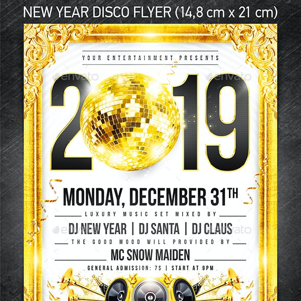 New Year Disco Flyer #2