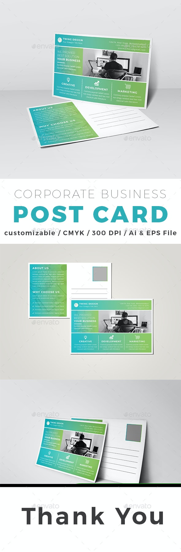 Post Card - Cards & Invites Print Templates