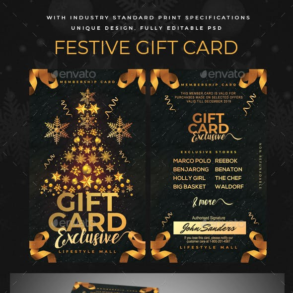 Festive Gift Card / Loyalty Card