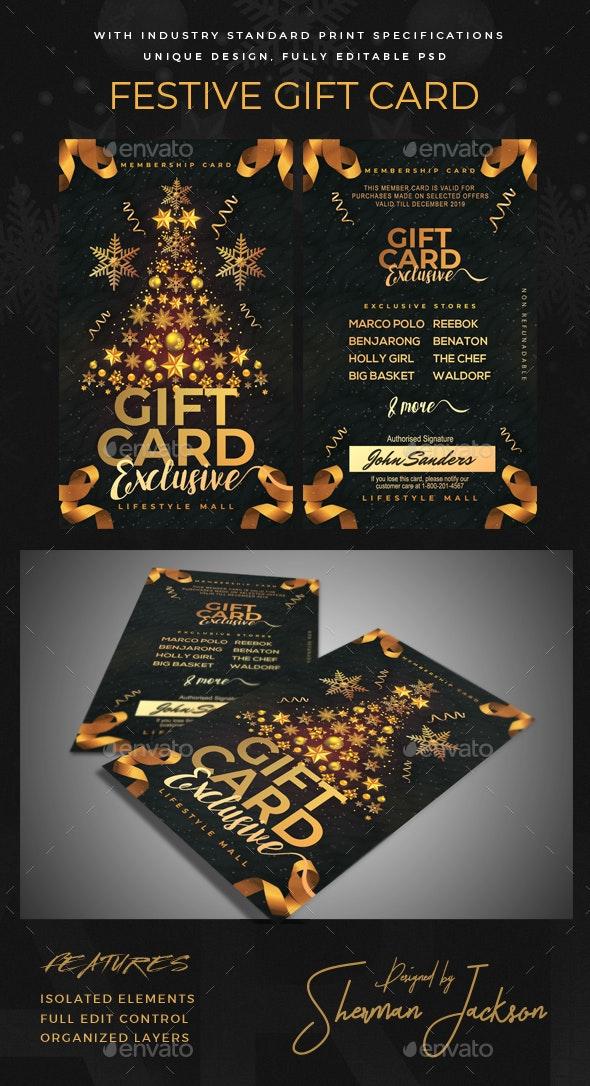 Festive Gift Card / Loyalty Card - Loyalty Cards Cards & Invites