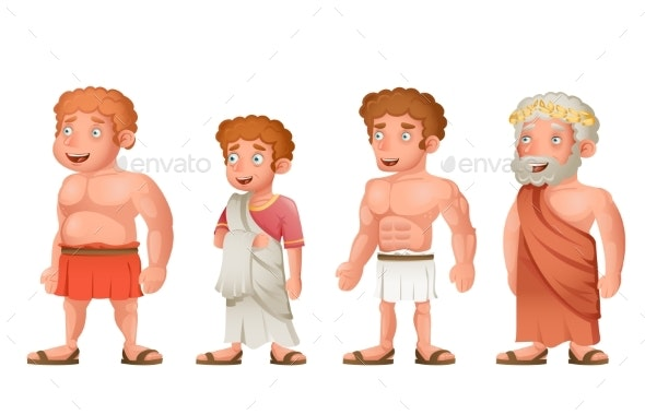 Roman Greeks - People Characters