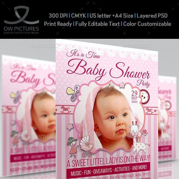 Baby Shower Flyer Template Vol.2