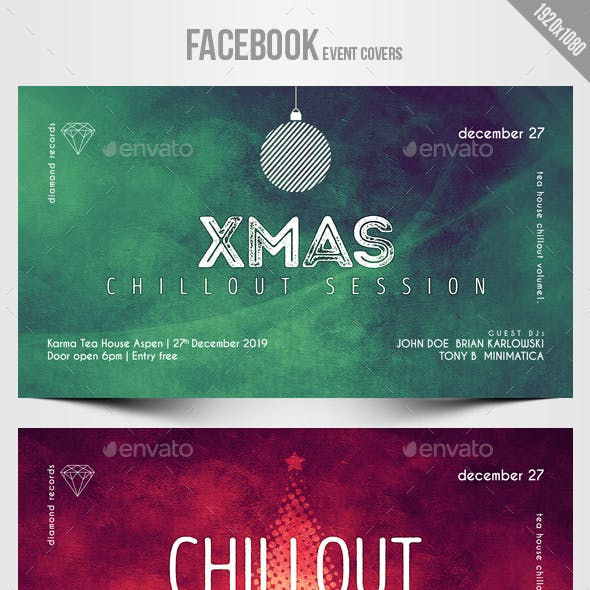 Electronic Music Party 05 - Facebook Christmas Event Cover Templates