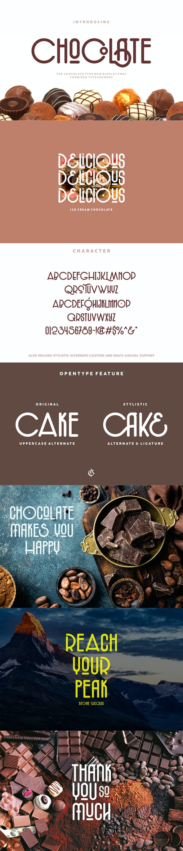 The chocolate type - Decorative Fonts
