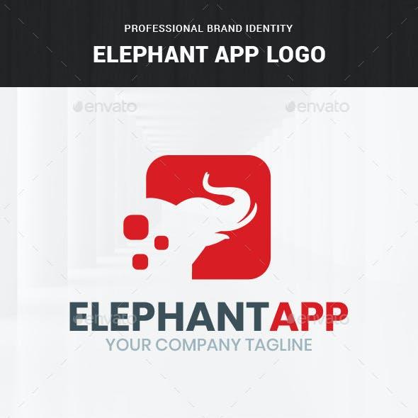 Elephant App Logo Template