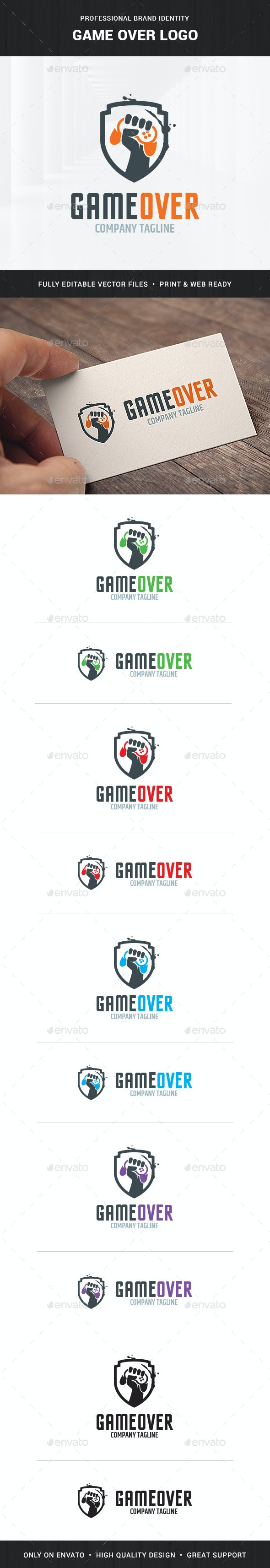 Game Over Logo Template - Crests Logo Templates