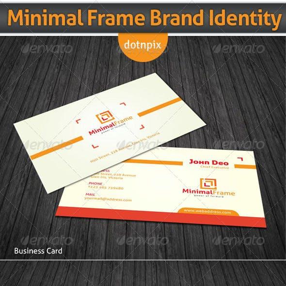 Minimal Frame Brand Identity