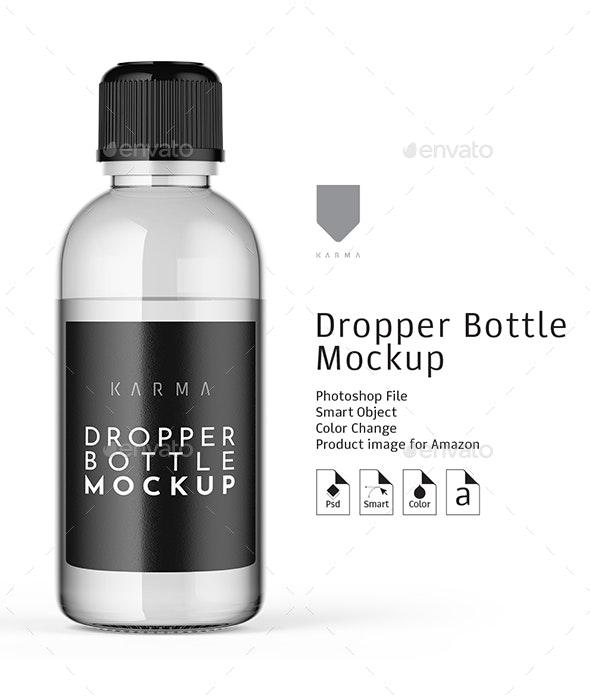 Dropper Bottle Mockup 2 - Miscellaneous Packaging