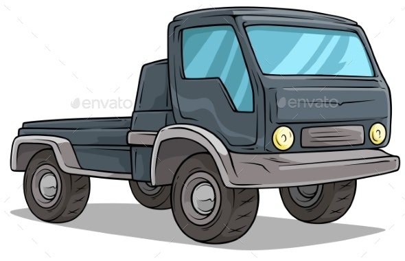 Cartoon Delivery Onboard Cargo Truck Vector Icon - Man-made Objects Objects
