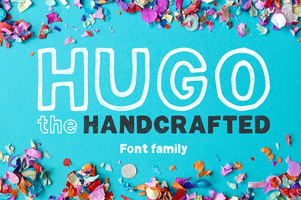 Hugo - The huge handlettered family - Hand-writing Script