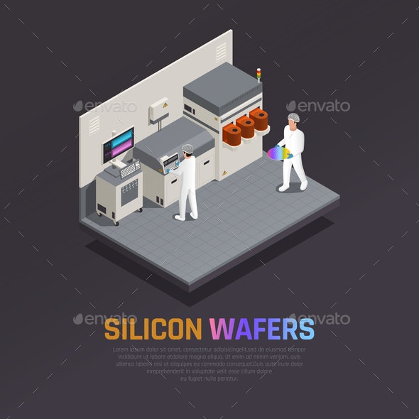 Electronic Chip Production Background - Industries Business