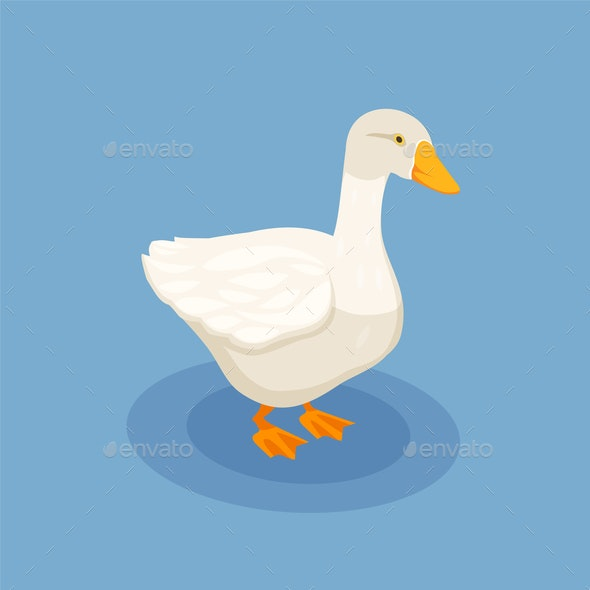 Goose Isometric Poster - Patterns Decorative
