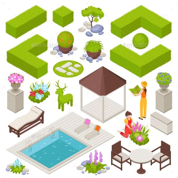 Landscape Design Set - Flowers & Plants Nature