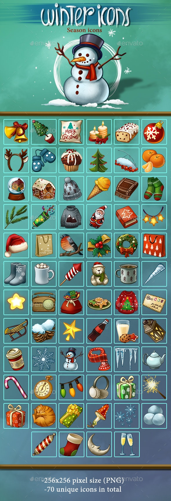 Winter Icons - Miscellaneous Game Assets