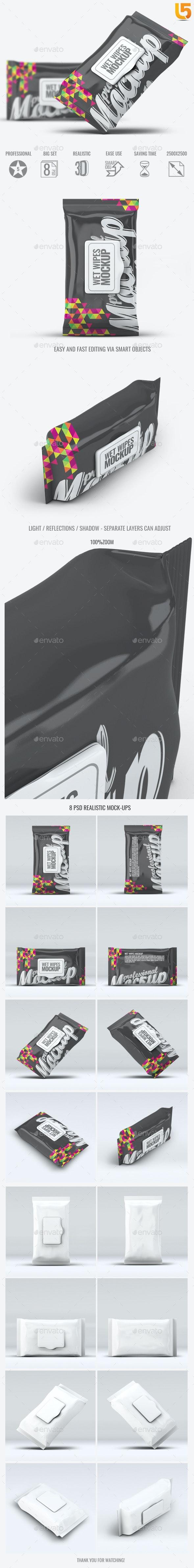 Wet Wipes Mock-Up - Beauty Packaging