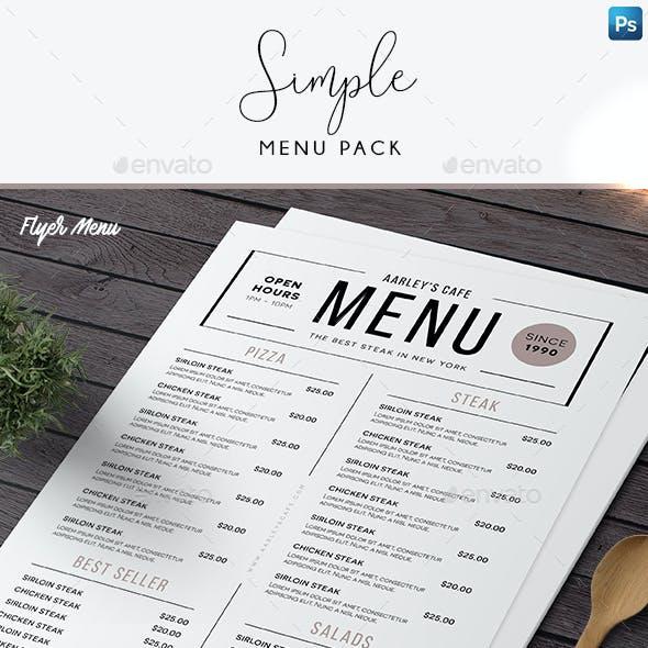 Simple Menu Pack