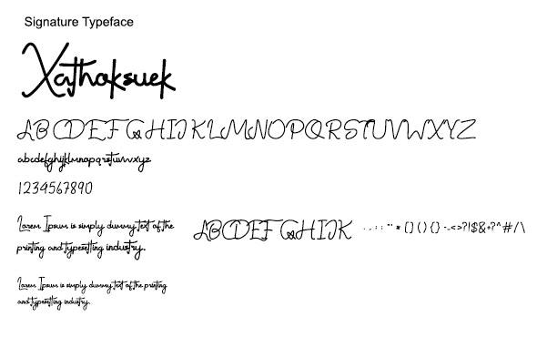 Xathoksuek // Awesome Signature Font - Hand-writing Script