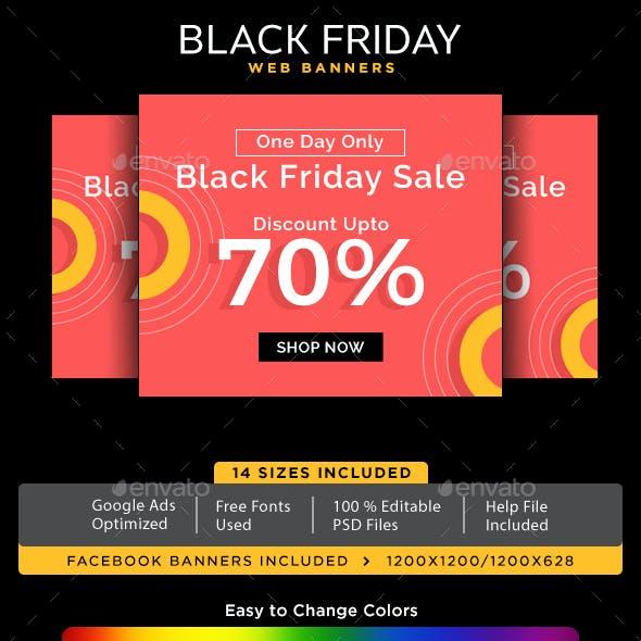 Black Friday Sale Web Banner Set