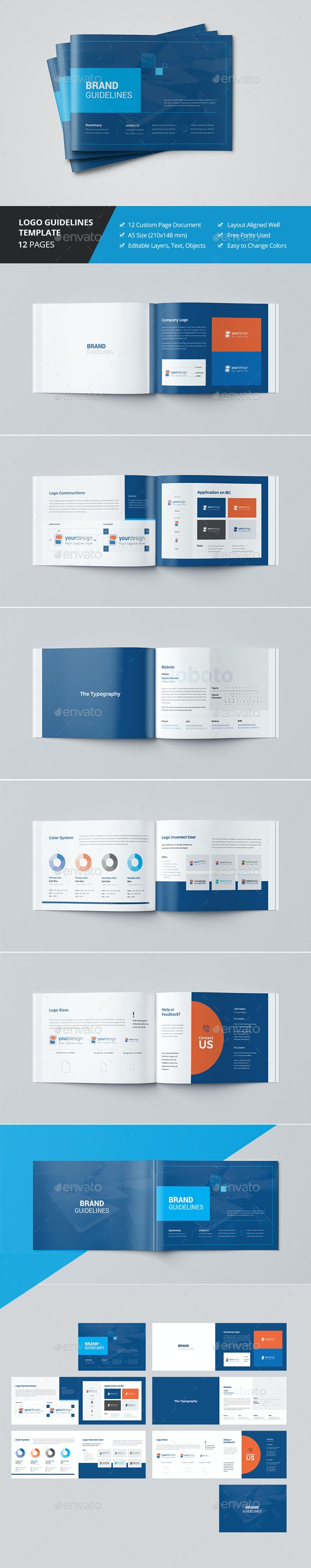 Logo Guidelines Template - Brochures Print Templates