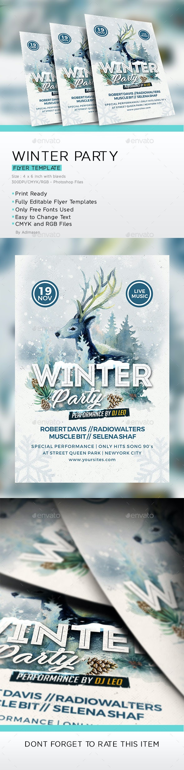 Winter Party Flyer - Clubs & Parties Events