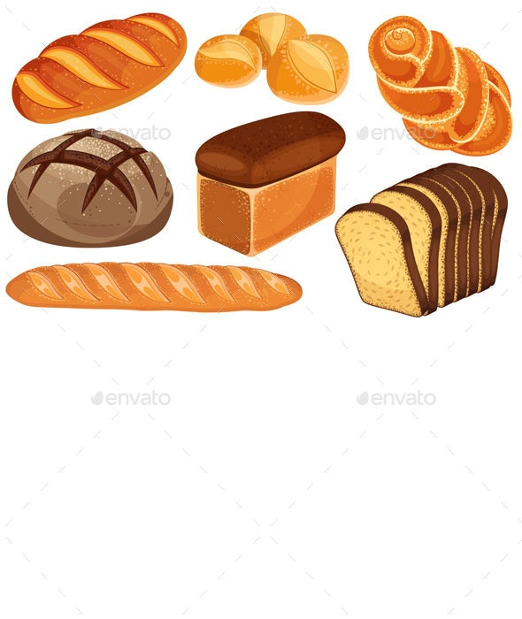 Bread Set - Food Objects