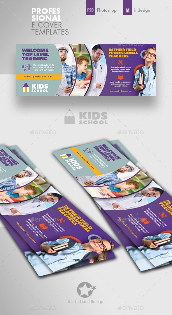 Kids School Cover Templates - Facebook Timeline Covers Social Media