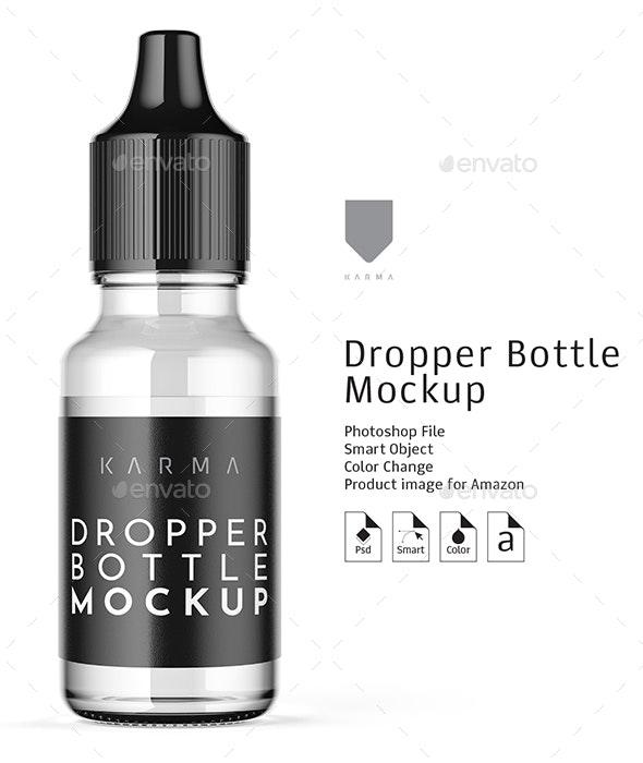 Dropper Bottle Mockup 5 - Packaging Product Mock-Ups