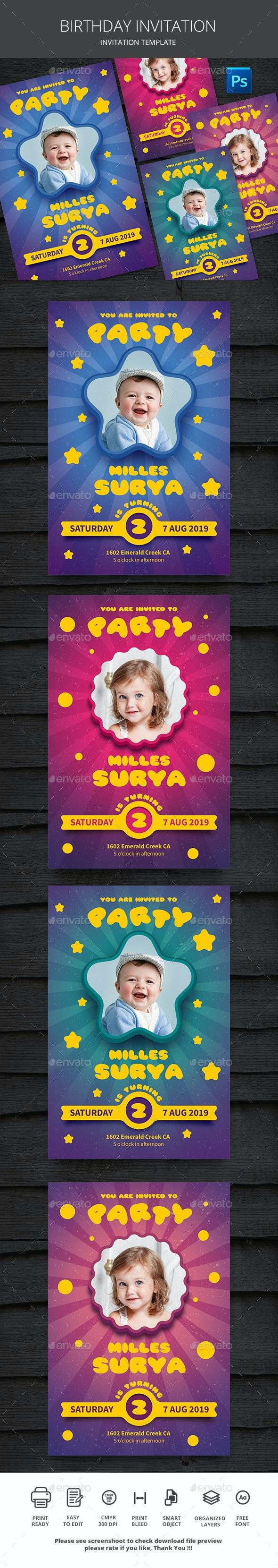 Kids Birthday Party - Invitations Cards & Invites