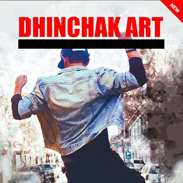 Dhinchak Art Photoshop Action