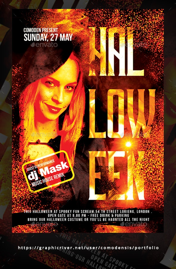 Halloween Festival Flyer Templates - Clubs & Parties Events