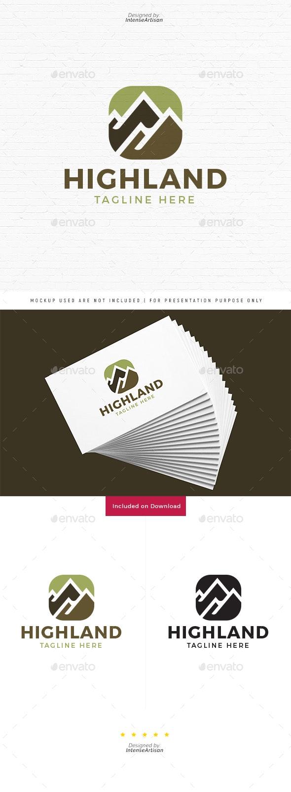 Highland Mountain Logo - Nature Logo Templates
